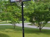 Lifetime portable basketball system features a solid