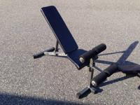Active Fitness Adjustable Incline/Decline FID Bench.