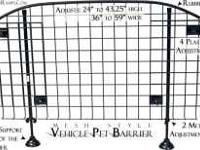 Mesh style adjustable gate or barrier for your car or
