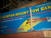 Adustable bumper mount towbar; New in original box.
