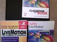 Adobe LiveMotion software with 2 user guides &