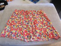 Very cute junior skirt with flower print. This is a