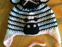 Fun , cute crocheted hats in am array of styles and