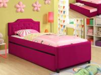 "ADORABLE HOT PINK ""AMELIA"" TRUNDLE BED! PERFECT FOR"