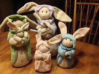 Four adorable bunnies purchased from The Homemaker's