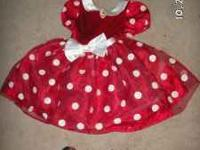 This is an adorable MINNIE MOUSE DRESS with HEADBAND