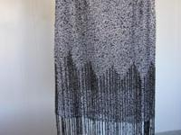 Never worn grey Adrianna Papell beaded halter evening
