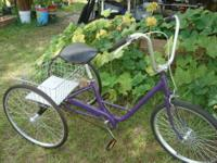 Adult size Trike with 20 inch wheels Single speed Hand