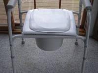 Deluxe Bedside Potty Chair for Adults is clean and in
