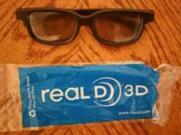 Up for sale is 3D glasses Color: Black For men and