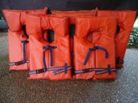Orange Life Preservers by Kent Sporting Goods - Adult