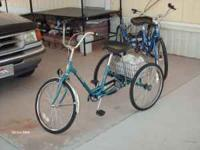 I HAVE TWO THREE WHEEL BICYCLES FOR SALE. ONE IS A