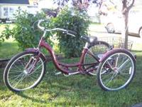 SCHWINN ADULT THREE WHEEL TRIKE. MERIDIAN NEVER USED