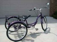 3 wheel schwinn tricycle Purple in color. Brand new