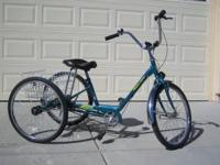 For sale is a 3-speed adult trike made by Miami Sun. It