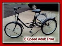 Black Adult Trike in great condition6 Speed VelorGo as