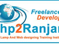 Php2ranjan is the best PHP training institute course in