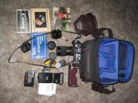 Canon AE-1 Program 35mm camera 2 lenses, standard 35mm