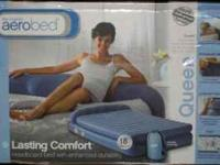 Queen size Aero Bed available in blue or Brown.