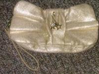 Victorias secret gold purse 4.00$ Old navy sandles7-7.5