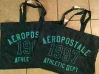 I have 2 reusable aeropostale tote bags. Can be used