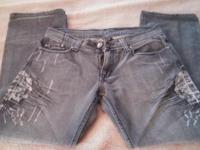 Men's Affliction Skull Jeans - Excellent used condtion