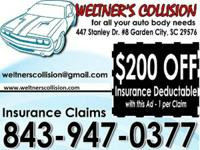 Affordable collision repairs available at a licensed