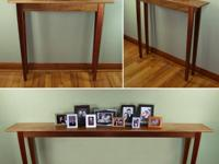 We make affordable handmade sofa tables, entryway