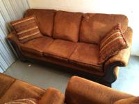 I am selling a pre-owned sofa set. The sofa seats are