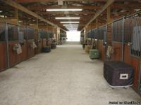 19 stalls, 12'x12 fully matted stalls, auto waterers, 2