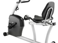 Recumbent workout bike with special FreeSPIN