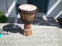 I have to leave my African drum since I am going back
