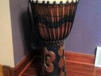 For sale hand carved bongo from Africa . It was giving