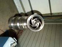 For sale are 4 aluminum directional wheels. The size is