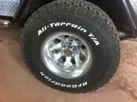 We have a set of aftermarket wheels and 33 X12.50 R