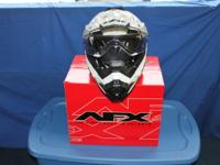 A stylish and solid dual sport helmet, AFX's FX-41 DS