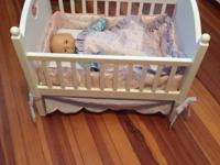 For Sale retired American Girl Bitty Baby Crib This is