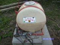 30 gallon spray tank pump boom hand wand 100.00