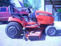 18hp AGCO riding lawn mower with 48 inch deck bought
