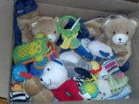 FS: 1. box full of new rattles for newborn including