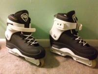 These are thick, aggressive inline skates, Size is