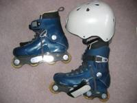 Rollerblades can be used for grinding, size US 6.