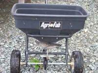 Agri fab walk behind seed/fertilizer spreader, it holds