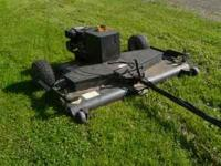 61 inch agrifab tow behind finish mower 12.5 horse