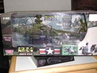 a unopen n never played with 1/48 die-cast metal AH-64