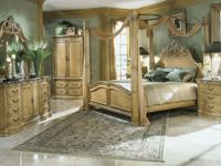 This bed room set includes the La Francaise King Size
