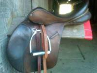 "Used 17"" Ainsley Pro National Event Saddle. Very"
