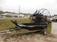 running airboat and trailer for sale! 1989 model around
