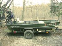 2010 10' Alumacraft Jon boat; 11 HP engine; 3-blade