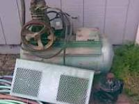 good compressor and tank, electic motor got run on too